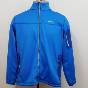 Cabela Blue / Yellow Accent Full Zip  Jacket XL
